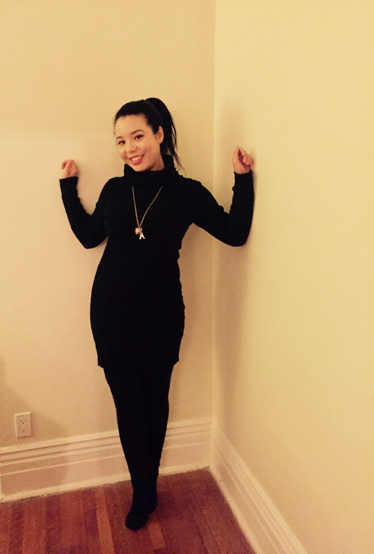 pookie-and-sebastian-black-turtleneck-dress-american-apparel-faux-leather-leggings