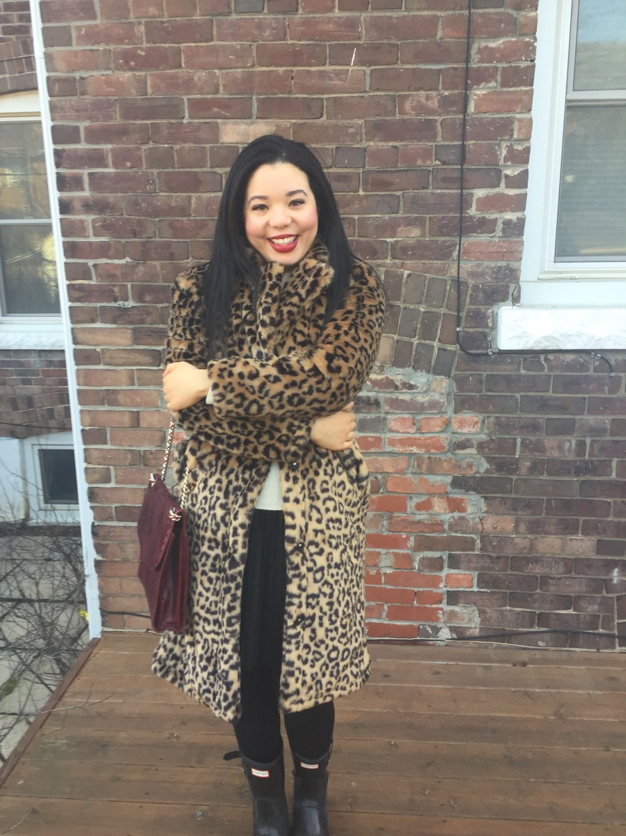 A Leopard Print Coat Never Loses Its Style