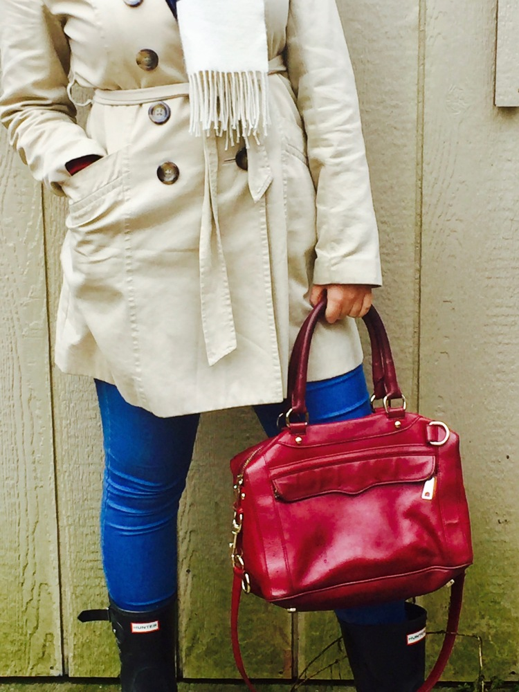Style-with-Amanda-Joe-Fresh-Trench-Coat-Hudson-Bay-Scarf-Hunter-Boots-Rebecca-Minkoff-Purse-6
