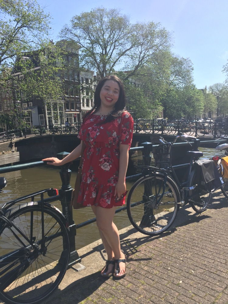 Style-with-Amanda-Red-Floral-Off-the-Shoulder-Dress-Dynamite-Black-Birkenstocks-Amsterdam-Vacation-12