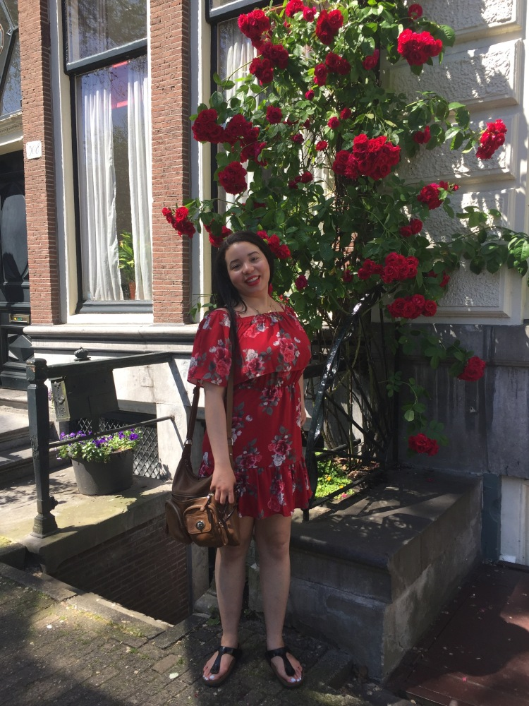 Style-with-Amanda-Red-Floral-Off-the-Shoulder-Dress-Dynamite-Black-Birkenstocks-Amsterdam-Vacation-14