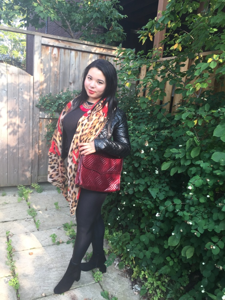 Style-with-Amanda-Outfit-Inspiration-Animal-Print-Scarf-Quilted-Faux-Leather-Jacket-Rebecca-Minkoff-Oxblood-Handbag-15