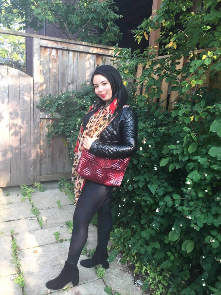 Style-with-Amanda-Outfit-Inspiration-Animal-Print-Scarf-Quilted-Faux-Leather-Jacket-Rebecca-Minkoff-Oxblood-Handbag-16