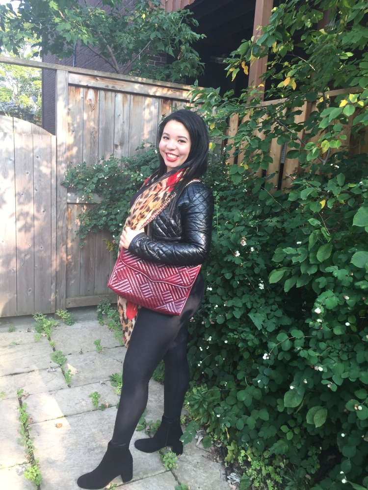 Style-with-Amanda-Outfit-Inspiration-Animal-Print-Scarf-Quilted-Faux-Leather-Jacket-Rebecca-Minkoff-Oxblood-Handbag-17