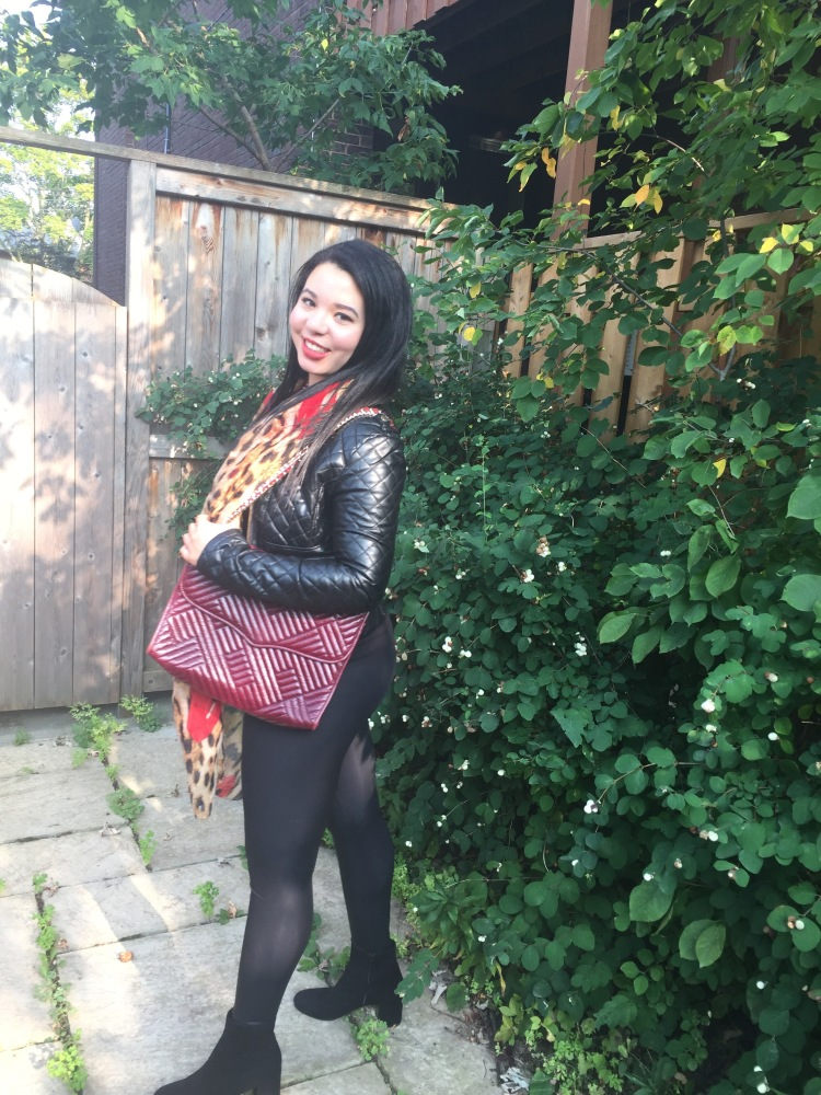 Style-with-Amanda-Outfit-Inspiration-Animal-Print-Scarf-Quilted-Faux-Leather-Jacket-Rebecca-Minkoff-Oxblood-Handbag-18